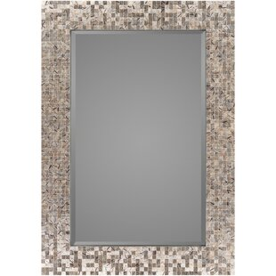 Rosecliff Heights Traditional Rectangle Wood Wall Mirror