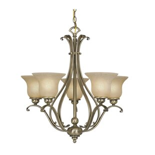 Enfield 5-Light Shaded Chandelier by Three Posts