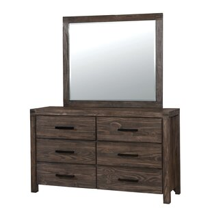 Union Rustic Wyndham 6 Drawer Dresser with Mirror