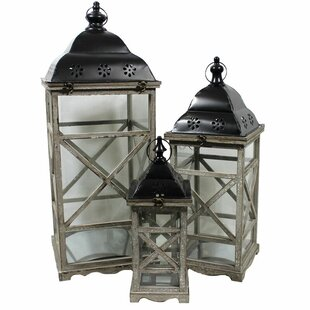 Top Reviews 3 Piece Lantern Set By Bungalow Rose
