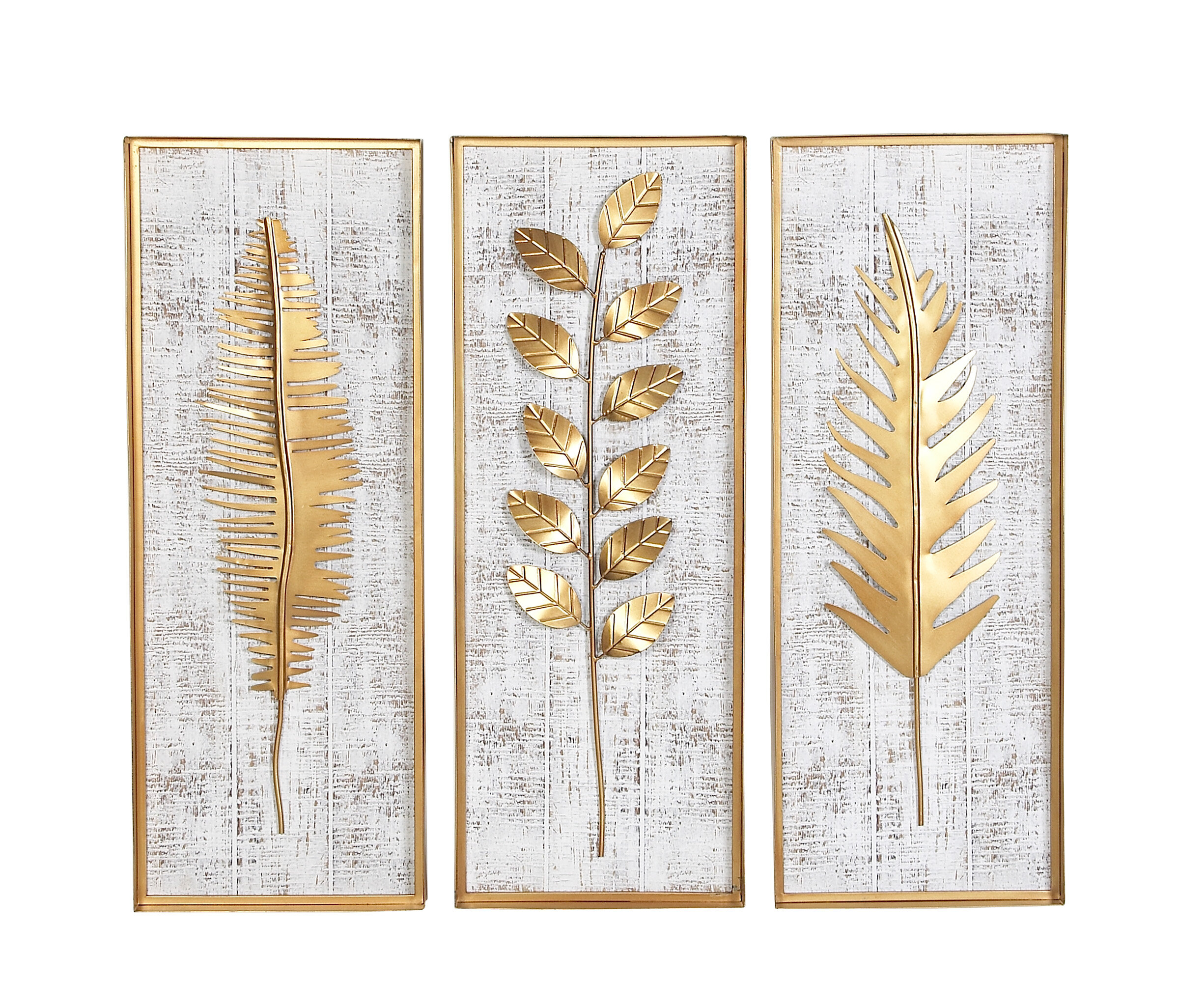Bungalow Rose Goodfellow 3 Piece Rectangular Metal Wall Decor Set