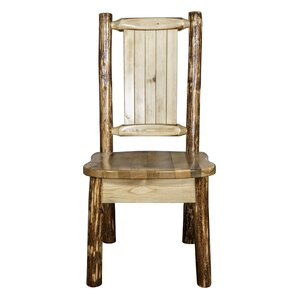 Tustin Engraved Wolf Side Chair by Loon Peak