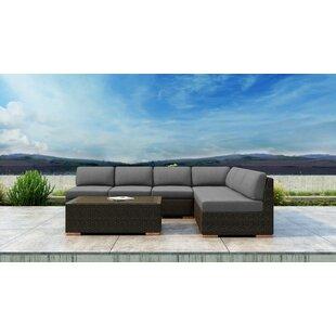 Everly Quinn Glen Ellyn 7 Piece Sectional Set with Sunbrella Cushion