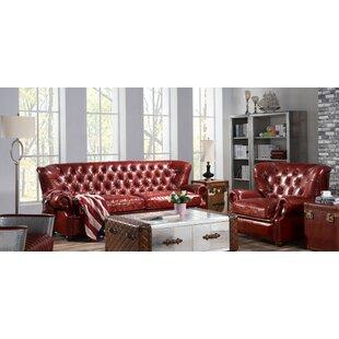 Pablo 2 Piece Leather Sofa Set By Williston Forge