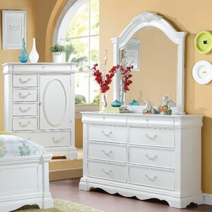 Best Reviews Deloris 8 Drawer Double Dresser with Mirror By Harriet Bee