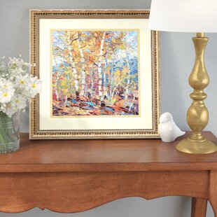 'Birch Colors 1' Framed Graphic Art Print by Three Posts