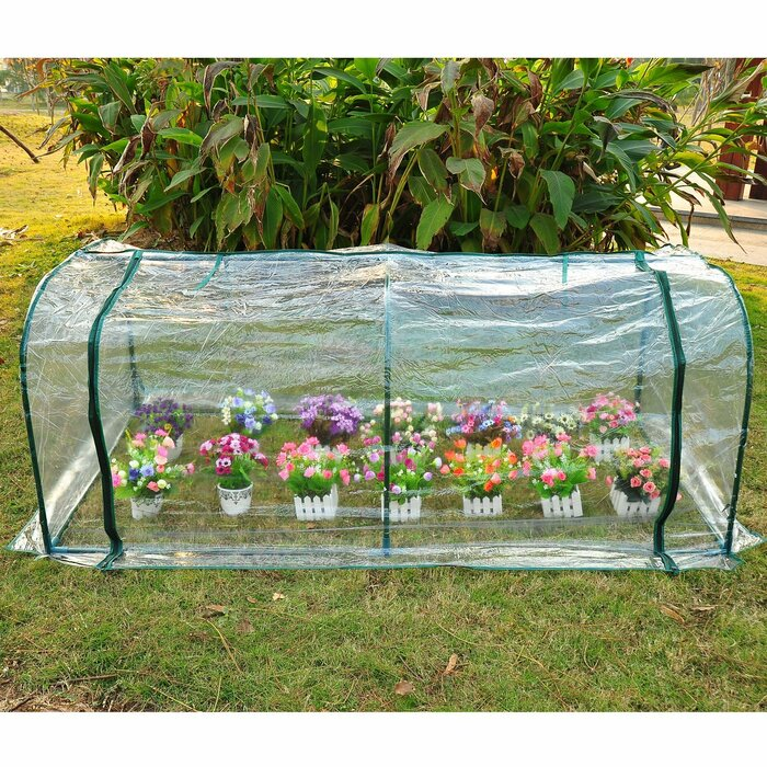 Outsunny 6.56-ft W x 3.28-ft D Mini Greenhouse