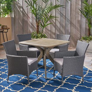 Sherilyn Outdoor 5 Piece Dining Set with Cushions