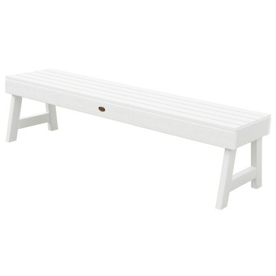 Outstanding Darby Home Co Berry Backless Synthetic Wood Picnic Bench Ibusinesslaw Wood Chair Design Ideas Ibusinesslaworg