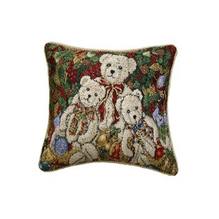 Proffitt Bear Design Pillow Cover by The Holiday Aisle New