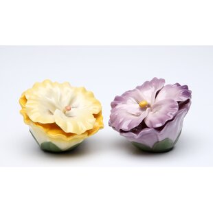 Pansy Salt and Pepper Set
