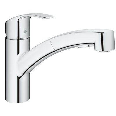 Eurosmart Single Handle Pull Out Standard Kitchen Faucet With Dual Spray  And SilkMove®