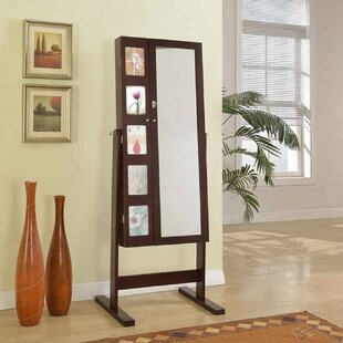 Red Barrel Studio Whitchurch Deluxe Double Doors Jewelry Armoire with Chevor Mirror