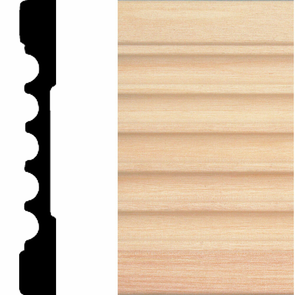 Manor House 1 2 In X 4 In X 7 Ft Basswood Fluted Casing Moulding Wayfair
