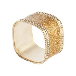 Sparkling Square Napkin Ring (Set of 4) by Willa Arlo Interiors