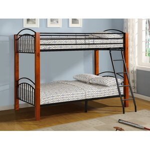 Harland Metal and Wood Twin Bunk Bed by Harriet Bee