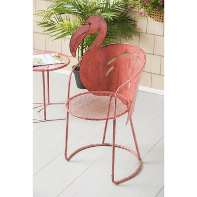 Flamingo Iron Bistro Table With Chair by Bay Isle Home 2020 Sale