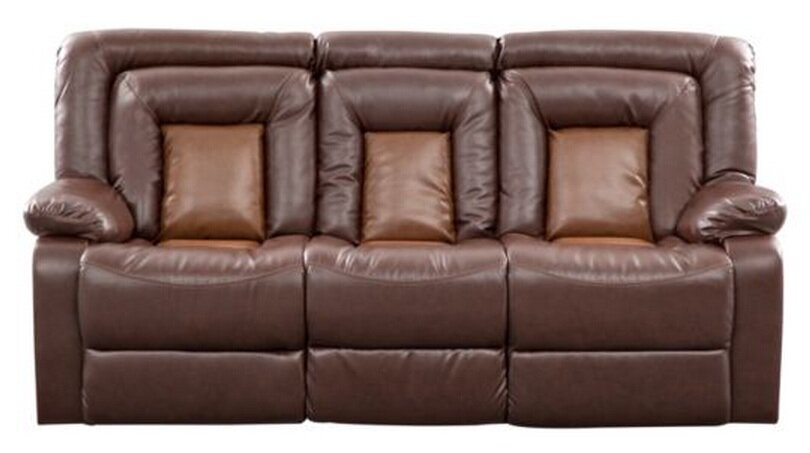 Kmax Leather Reclining Sofa