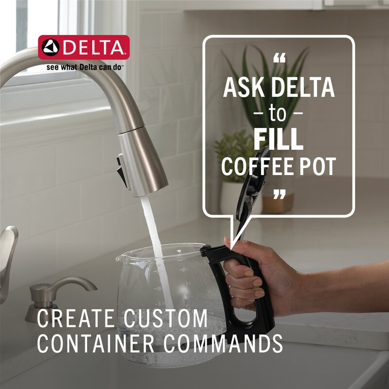 Delta Trinsic Voiceiq Pull Down Touch Single Handle Kitchen Faucet With Touch2o Electronic Reviews