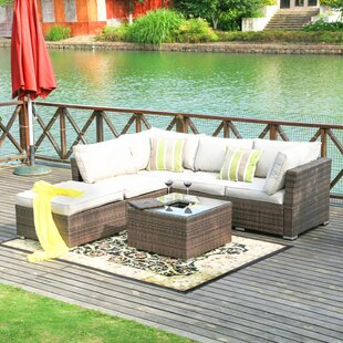 Atterberry 5 Piece Sectional Set with Cushions by Darby Home Co