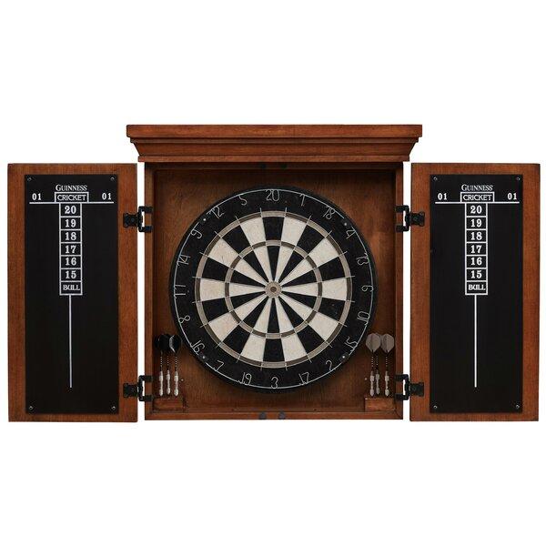 American Heritage Guinness Dartboard Cabinet Set | Wayfair