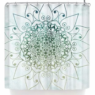 Nika Martinez Elegant Mandala Single Shower Curtain
