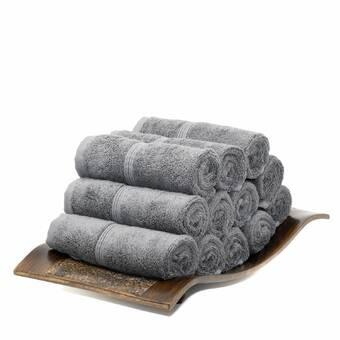 Mosobam Luxury 12 Piece Washcloth Towel Set Reviews Wayfair