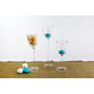 3 Pieces Glass Votive Set