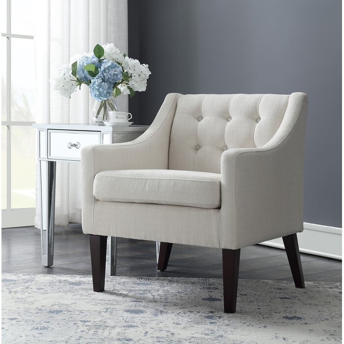 Charming Aileen Mid Century Tailored Tufted Accent Armchair