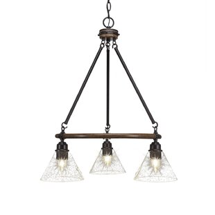 Loon Peak Pujari 3-Light Wagon Wheel Chandelier
