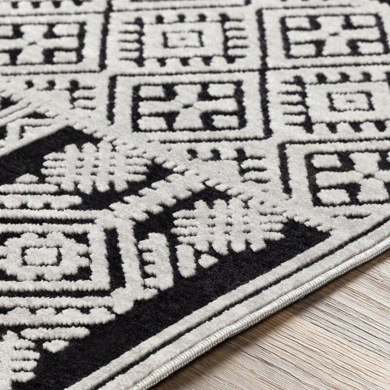 World Menagerie Cruz Global Inspired Black Ivory Area Rug Wayfair