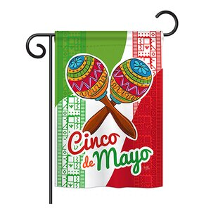 Maracas Cinco de Mayo Country and Primitive 2-Sided Polyester 1'1 x 1'6.5 ft. Garden Flag by Breeze Decor