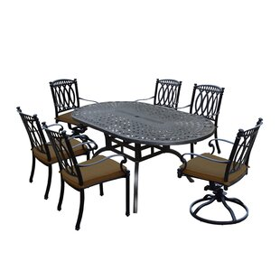 Darby Home Co Otsego 7 Piece Aluminum Dining Set with Cushions