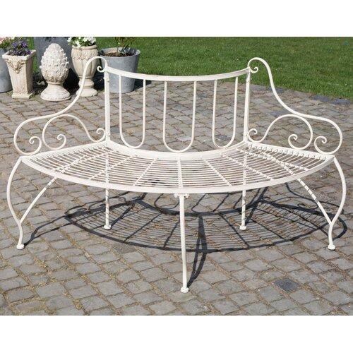 Baumbank Cayuga aus Eisen | Garten > Gartenmöbel | Creme antik | Eisen - Metall - Rattan - Polyester | Home & Haus