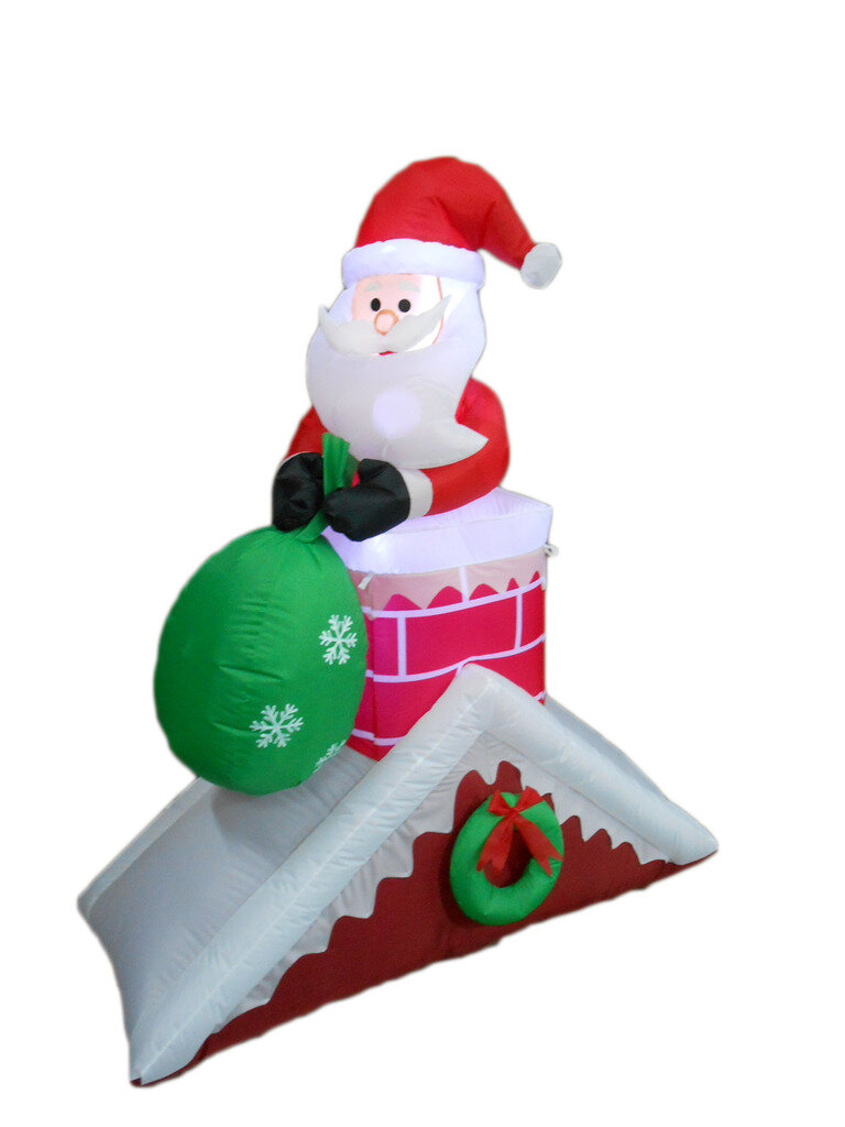 on bzb decoration decorations three outdoor santa christmas pdx wayfair inflatable reviews goods claus sleigh reindeer with decor