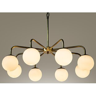 Noir Larenta 8-Light Sputnik Chandelier