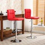 Winford Swivel Adjustable Height Bar Stool (Set of 2) by Latitude Run®