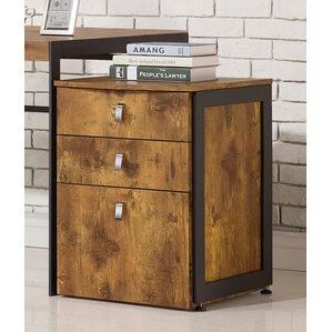 Enes 3 Drawer Mobile Vertical Filing Cabinet