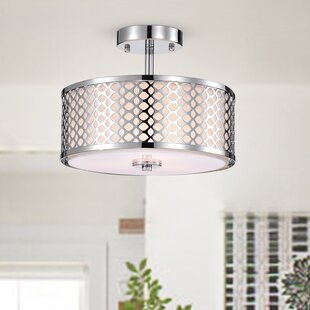 Ethen 3-Light Semi Flush Mount by Ebern Designs