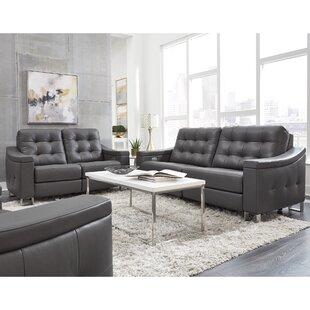 Franka Leather Reclining Configurable Living Room Set By Orren Ellis