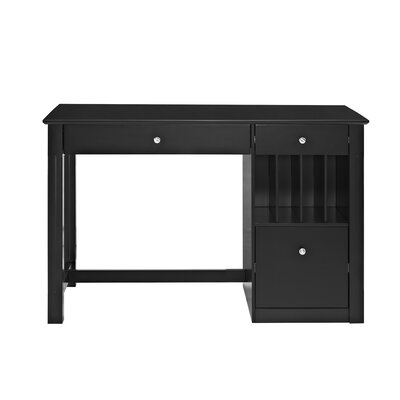 Clinton Computer Desk Color: Black by Beachcrest Home