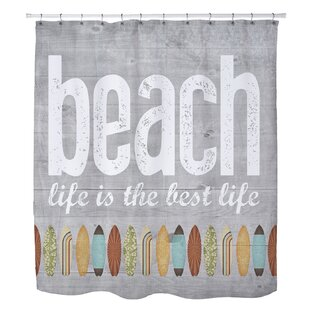 Maitland Beach Life Single Shower Curtain
