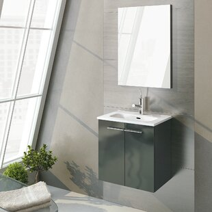 Reviews Start 20 Single Bathroom Vanity Set with Mirror By WS Bath Collections