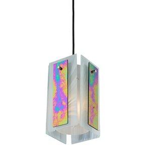 Meyda Tiffany Metro Aurora Borealis Quadrato 1-Light Square/Rectangle Pendant