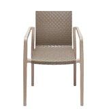 Aliyah Plastic Arm Chair in Brown (Set of 2) by Ivy Bronx
