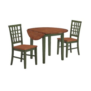 Espy 3 Piece Drop Leaf Dining Set DarHome Co