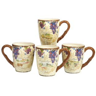 Carmel 4 Piece Coffee Mug Set