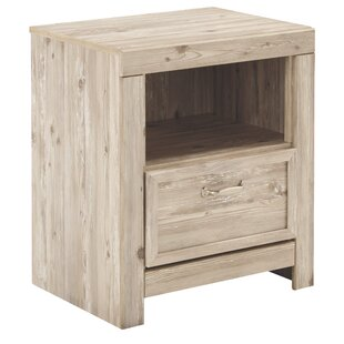 Plympt 1 Drawer Nightstand by Three Posts