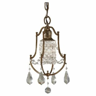 Astoria Grand Drewett 1-Light Crystal Pendant