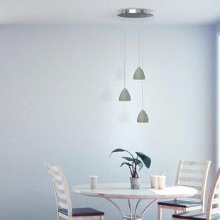 Orren Ellis Atherton 3-Light LED Cluster Pendant